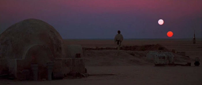 Luke on Tatooine.