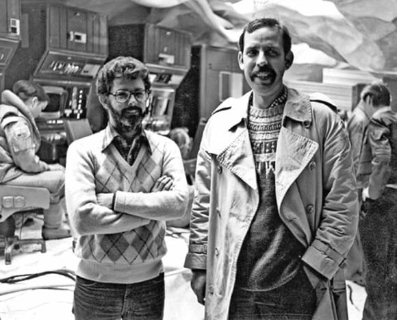 George Lucas on the left.