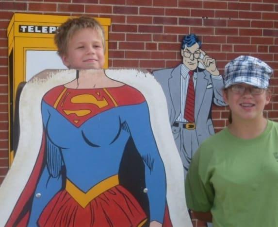 Nathan as Supergirl
