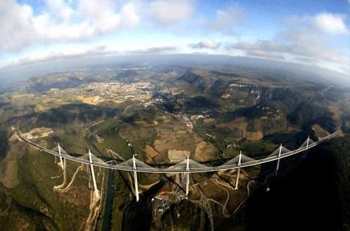 The Millau Viaduct - A Fisheye View