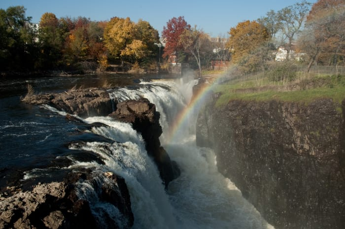 Rainbow over the Paterson Great Falls.
