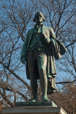 Alexander Hamilton statue at the Great Falls (Franklin Simmons 1905).