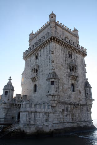 This is a photo I took of Bélem Tower, a limestone bastion built in Lisbon during the Portuguese Renaissance.