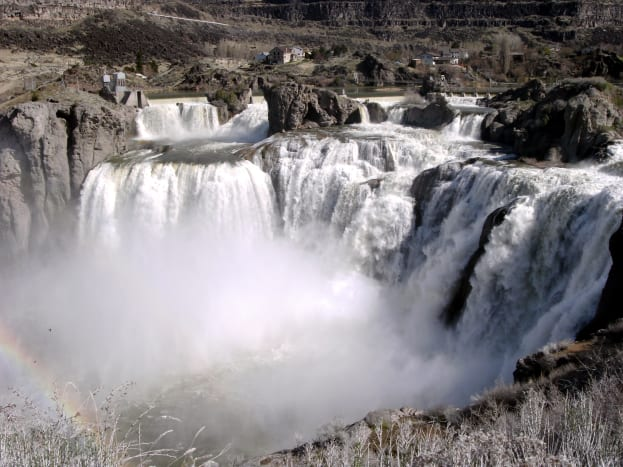 "Shoshone Falls, the ""Niagara of the West""."