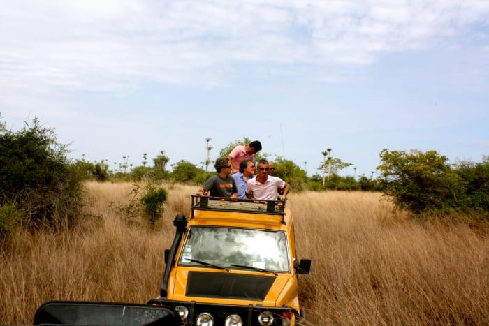 Chasing wildlife on a four-wheeler!
