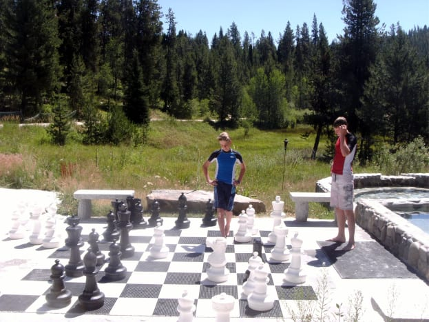 We even had a game of chess going on!