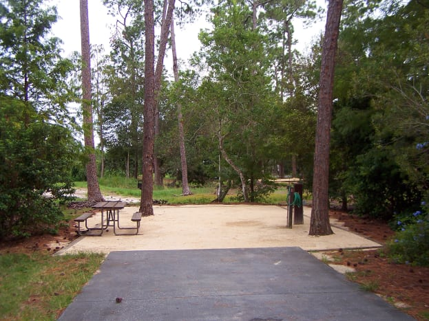 Standard campsite- electricity, cable, partial, water, picnic table, BBQ grill, scenic location