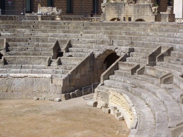 The Roman Amphitheater at Lecce is still used today to stage operas, musicals and plays. If you're there in the summer, keep an eye out for a performance.