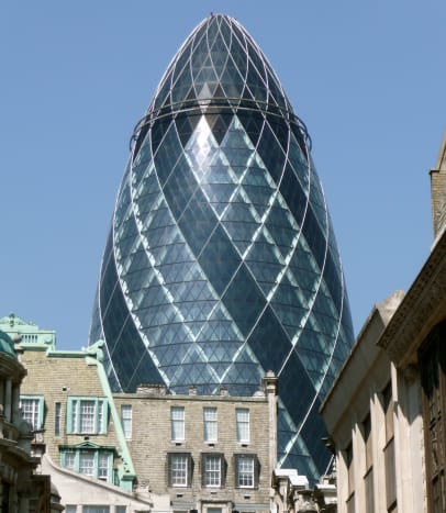 "The building commonly known as ""the Gherkin"""