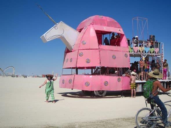 Flying Pink Unicorn Artcar