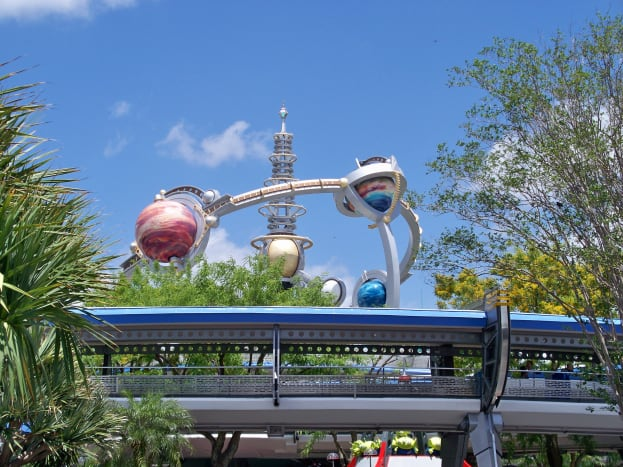 Tomorrowland Transit Authority People Mover (Blue roof)