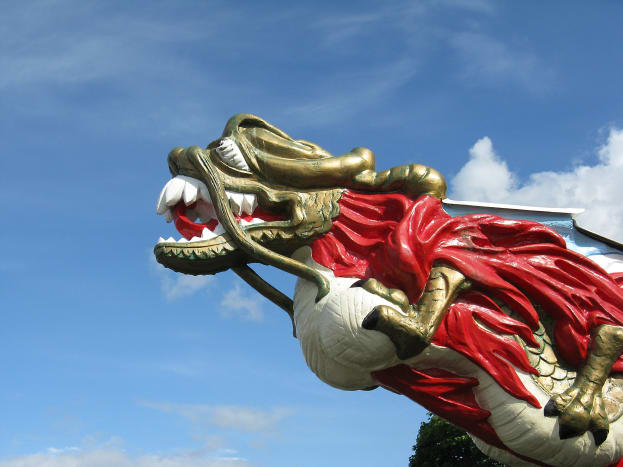 The replica of the Empress of Japan figurehead