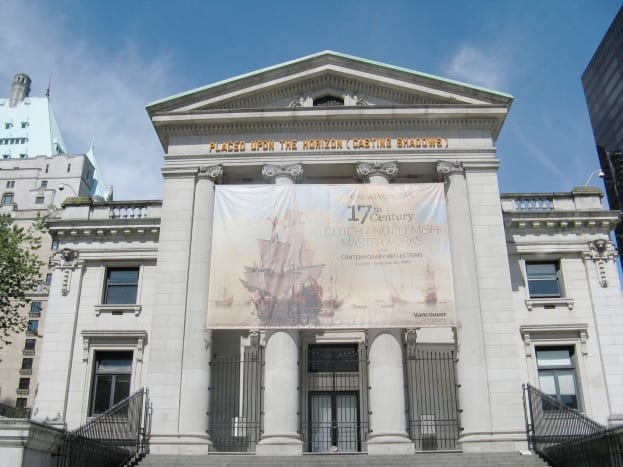 The back of the Vancouver Art Gallery