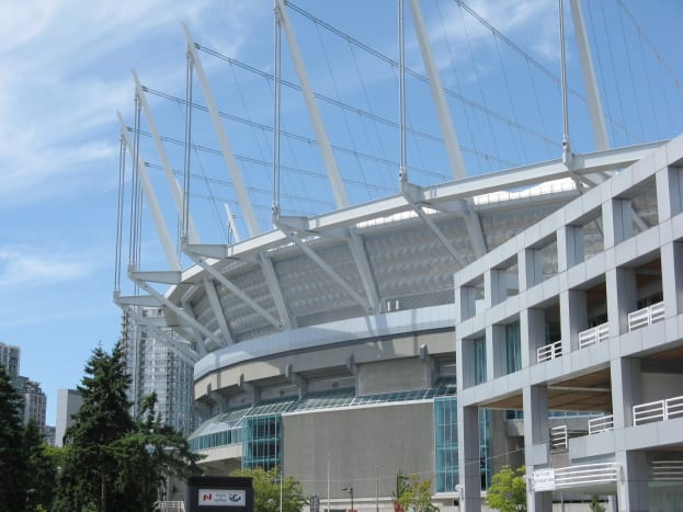 BC Place Stadium with its retractable roof