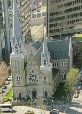 An interesting aerial view of the cathedral