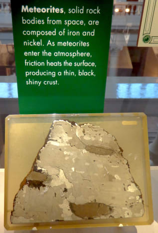 Section of the Social Circle Meteorite.  Photo by author.