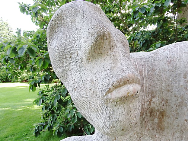 "Part of my favourite sculpture in the garden, which is entitled ""Observing Your Society""."