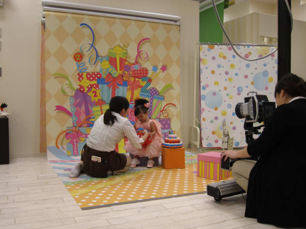 Birthday-Themed Photo Shoot, Studio Alice Kobe Hyogo, Japan