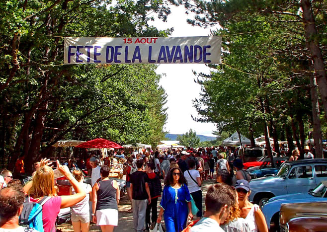 Lavender Festival in Sault on August 15, 2015.