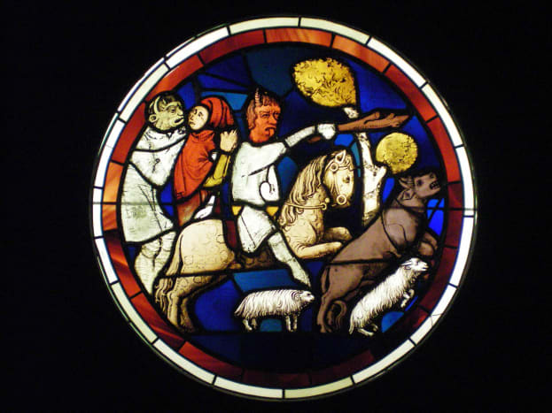 One of the many stained glass windows (c) A. Harrison