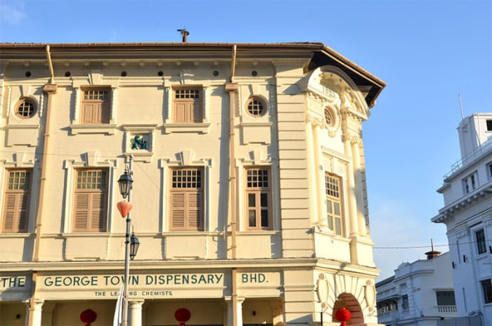 Georgetown, downtown of Penang island, has is a showcase of well-preserved colonial buildings.