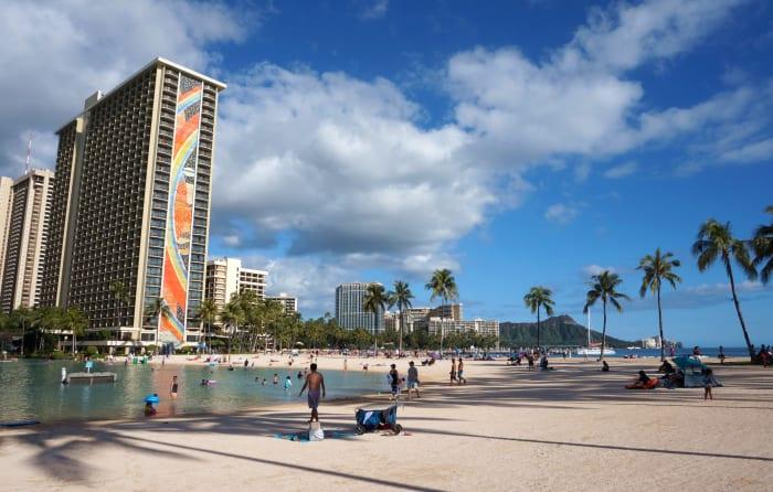 Duke Kahanamoku Lagoon at Hilton Hawaiian Village.