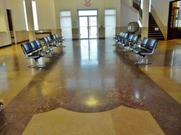 Beautiful marble flooring in this 1940 Air Terminal Museum