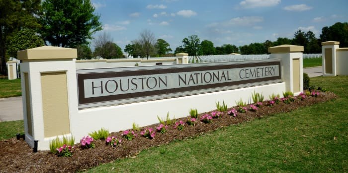 Main Entrance to Houston National Cemetery