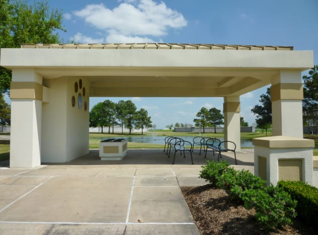 Committal shelter in Houston National Cemetery