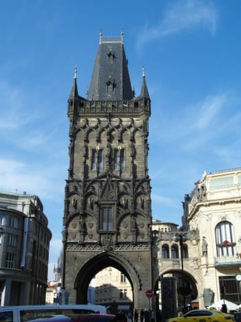 The Powder Gate, ,heading into Prague Old Town.