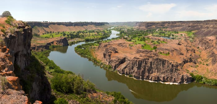 Snake River Canyon near Twin Falls, Idaho