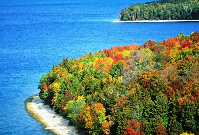 Fall colors at Peninsula State Park in Door County, Wisconsin