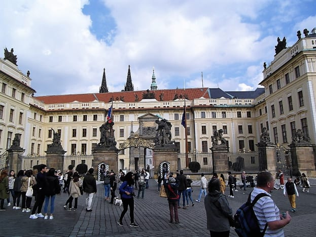 Prague Castle main entrance.