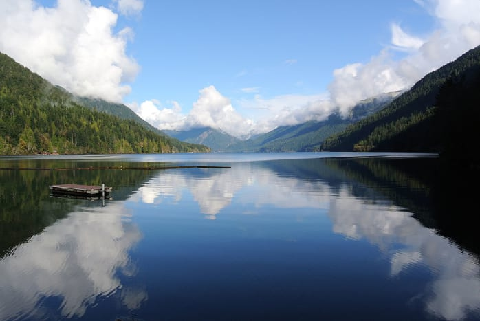 Lake Cresent in Olympic National Park near Seattle, Washington