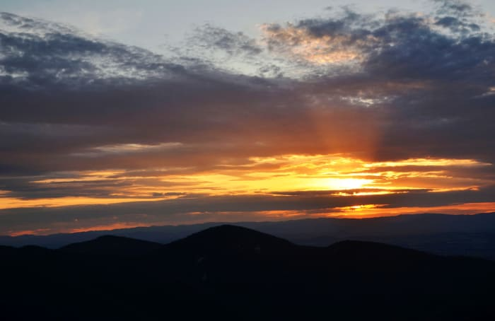 Amazing sunset off of Skyline Drive in Shenandoah National Park
