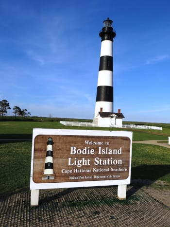 Bodie Island Lighthouse on the Outer Banks of North Carolina