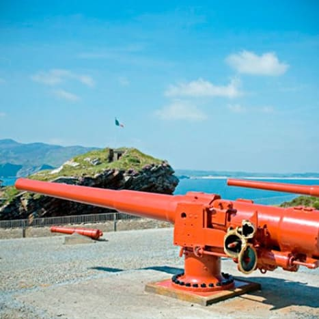 Old Naval Gun at Fort Dunree
