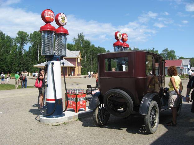 A vintage gas station.