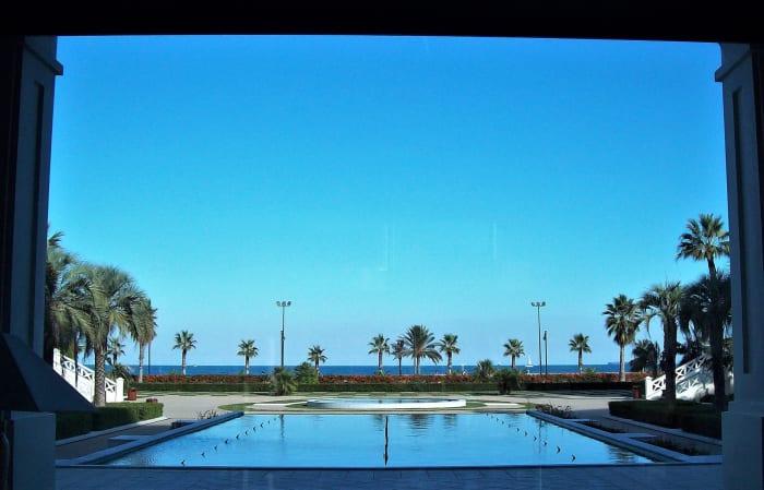Seafront hotel vista, Valencia.