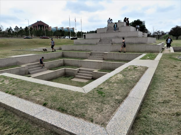 View of the Houston Police Officers' Monument