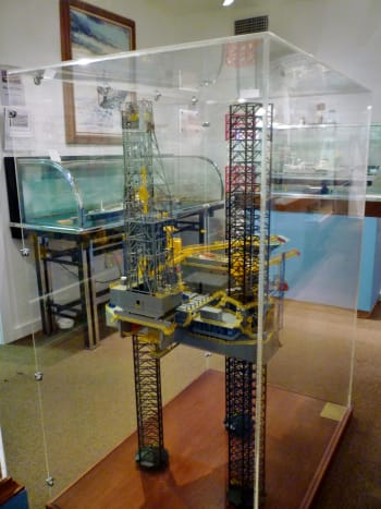 Offshore Oil Rig Models at Houston Maritime Museum