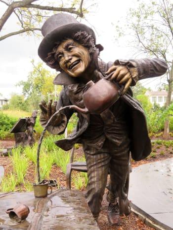 Mad Hatter on Wonderland Sculpture in Evelyn's Park