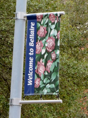 Welcome to Bellaire Flags on Bellaire Boulevard Light Posts