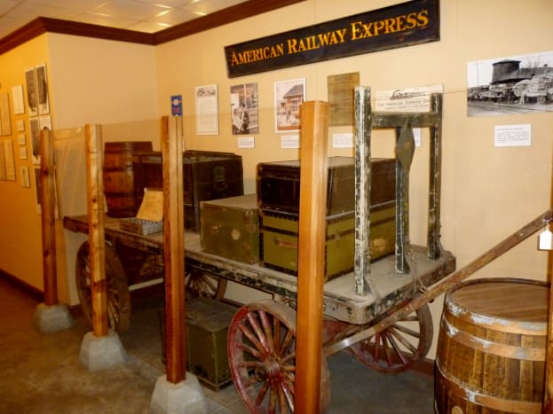 One of many displays inside of the museum