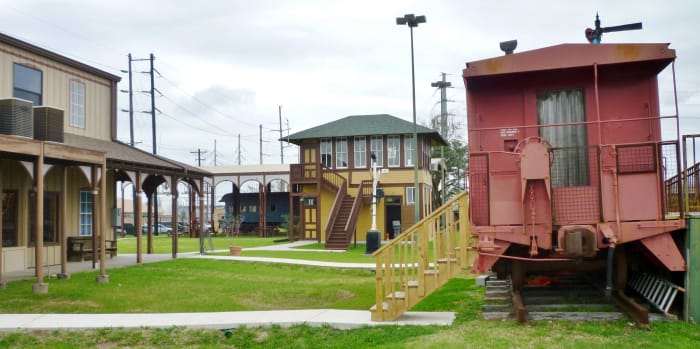 Outdoor Grounds at Rosenberg Railroad Museum