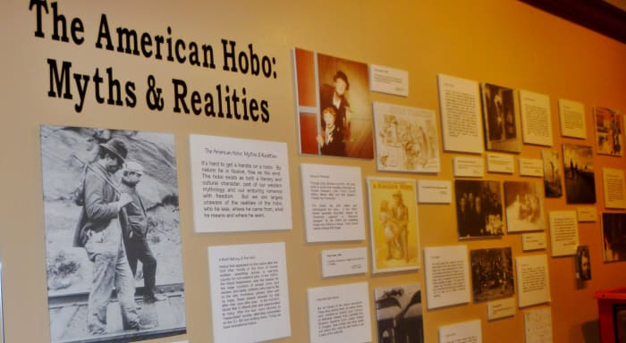 Display about the American Hobo