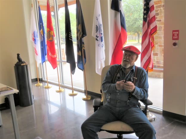 Artist Ken Pridgeon Sr. in the Fallen Warriors Memorial Gallery