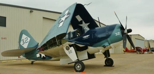 The Curtis SB2C Helldiver parked.