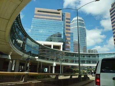 Driving through the Texas Medical Center