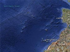 The supposed lost city of Atlantis from the Google Earth findings.